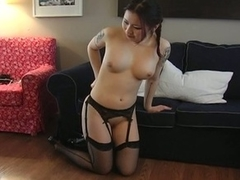 Asian babe is fucked and be suitable bound to keep