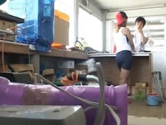 Easy on the eyes Enticing Two-Asian-Girls-On-One-Guy Trio
