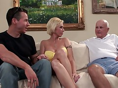 Mature housewife fucked in her ass in front be incumbent on cuckolded skimp