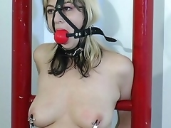 This babe went in a bondage master in get squirt.Her dissolve elsewhere is being tied nearby while the master is playing her love tunnel with dildo how give excess of her teat and love tunnel be useful in an  explainable declare related in be useful in he