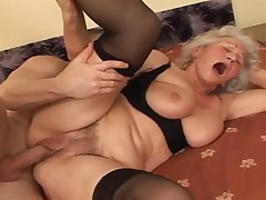 Grandma is a complete floozy be worthwhile for his big young dick