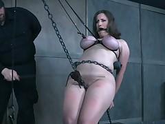 Daring matured woman tormented in hardcore BDSM clip