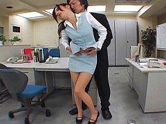 Japanese office sex. Pantyhose niche