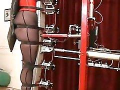Slave testing the fresh punishment machine!
