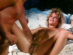 Sexy vintage adult movie star Ginger Lynn screwed hard