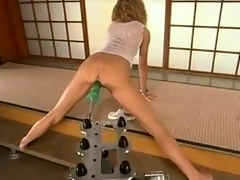 Incomparable crispy haired blondie beloved some machine penetration!