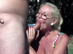 Cast your inhibitions aside, because this wild, barefaced whore granny...