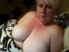 Karen is a big dilettante older golden-haired that can't live without playing with her fat pussy