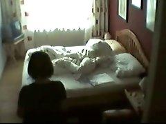 My mum in her bedroom masturbating. Hidden livecam