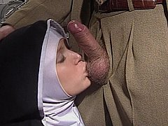 Shy European Nun receives her ass drilled good and hard