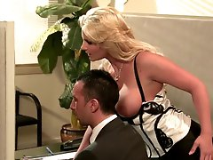 Breasty Blond Office Slut Phoenix Marie Gives Oral stimulation and Gets Drilled