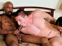 Bisexual 3Some! Mans Ally Sucks His Ramrod & GF Is Watching...