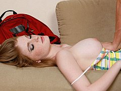Drunk redhead hottie finds herself getting fucked