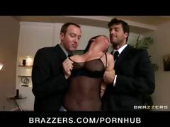 Nasty brunette Tory Lane is busted with toys and gets her face screwed hard in a gangbang