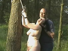 Chubby doxy receives poison ivy on her nipples and pussy whilst this babe is...