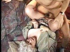 Slutty granny in pantyhose wants sex