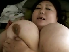 Fat Japanese gal with juicy tits