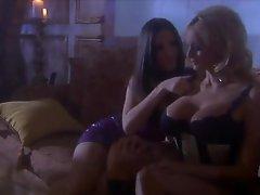 Busty Golden-haired In Lingerie Stormy Daniels Getting Lesbian Pleasure