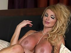 Breasty Blonde British MILF Taking On a Large Dick In The Morning