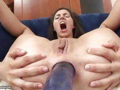 Porn pro Monica takes big cock in the ass and and likes each bit of it