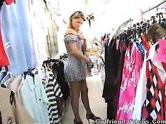 Milf Posing Naked in public