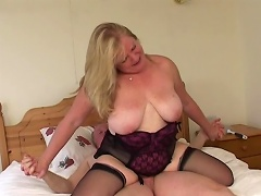 No thing is compare to this luscious old granny slut when it comes to...