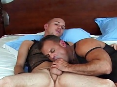 is enticed to try gay sex with a very hot male...