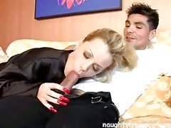Hot mama Sammie Sparks sucked on a knob as if it were a candy cane