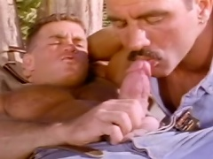 Homosexual dude waking up some impressive guy to suck & being sucked...