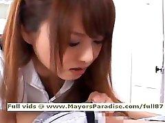 Akiho Yoshizawa from idol69 lewd oriental nurse likes to do blowjob