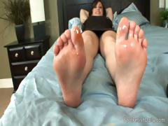 Foot Massage in Bed