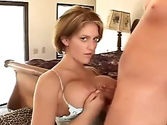 Incredible tits and lingerie on this HJ and titjob babe