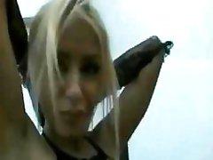 Hot blonde, Oana Oprea takes a monster dark dick in her butt