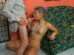 Lewd OLD MAN SEDUCES A REALLY HOT BEAUTIFUL BLONDE...