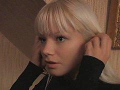 Cute blonde Swedish legal age teenager and her boyfriend