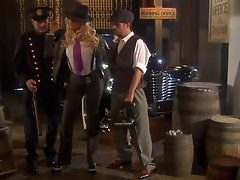 Sexy Blonde Detective Jessica Drake Getting Her Pussy Drilled In Three-some