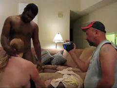 Fat mature amateur fucks a large darksome 10-Pounder while her  films it and then he fucks her