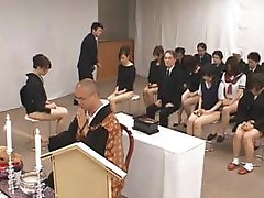Asian girls go to church half bare part5