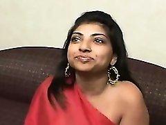 Indian slut gets to suck a big black