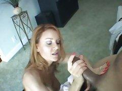 Janet Mason redhead milf stroke off a ebony 10-Pounder
