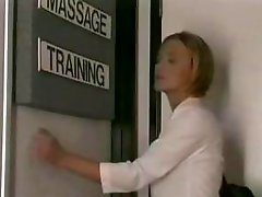 Blond honey gets a admirable luscious massage and some pussy licking