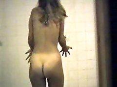 Hidden webcam - teen girl in a shower 01