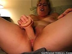 Chubby GF Dildos Slit Hard