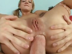 Naughty bitch Amy Brooke gets her round ass packed with thick rod and fucked