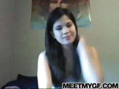 Buxom webcam non-professional masturbation