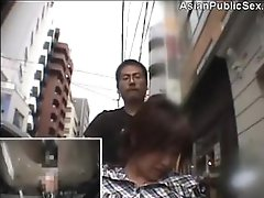 Orgasmic Wheelchair Dildo in public