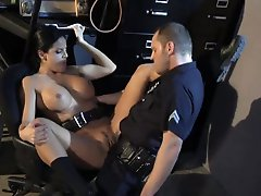 Gorgeous Latina Mikayla Mendez Bonks A Policeman To Smack His Cum