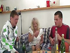 Drunk Granny Partying With Lads