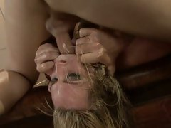 Harmony Rose getting her face drilled hard and deep