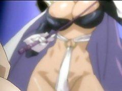 Chained manga girls gets castigation by sheboy Phantom Lady